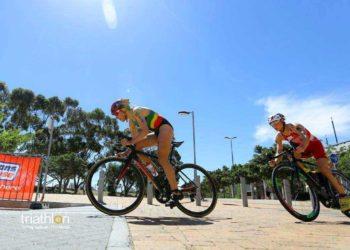 Julia Hauser auf Verfolgungsjagd am Rad in Cape Town 2018 | Foto: ITU