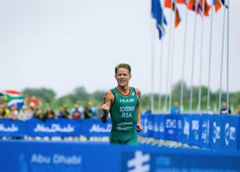 Henri Shoeman (RSA) siegt beim World Triathlon Serie Bewerb in Abu Dhabi 2018 | Foto: ITU