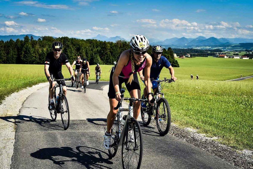 Giglmayr und Herlbauer bei Trumer Triathlon am Start 1