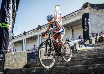 Carina Wasle am Weg zu Rang drei in Athen.