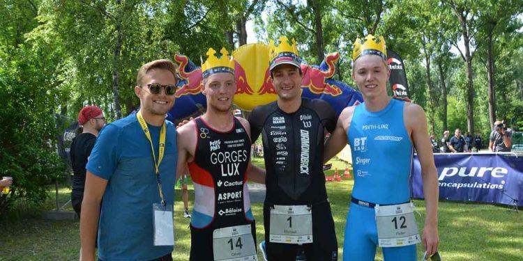 Das Siegerpodest des Klosterneuburg Triathlons über die Sprintdistanz 2018   Foto: trinews.at