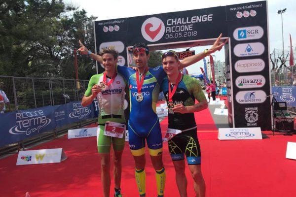 Steurer und Steger bei Challenge Riccione am Podest 5