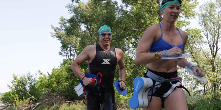 Tolle Action beim Swim+Run in Klosterneuburg