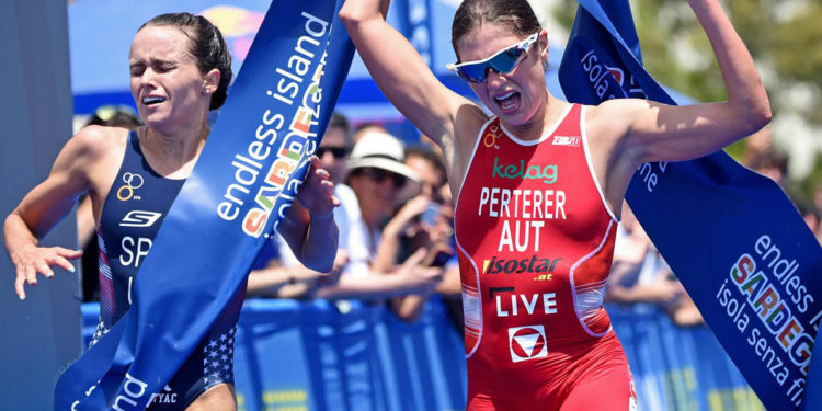 Lisa Perterer auf dem Weg zu ihrem größten Triumph | Foto: ITU