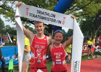 Lukas Gstaltner und Magdalena Früh holen sich die Staatsmeistertitel über die Sprintdistanz