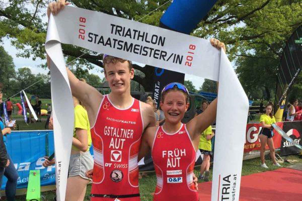 Früh und Gstaltner neue Triathlon Staatsmeister auf der Sprintdistanz 7