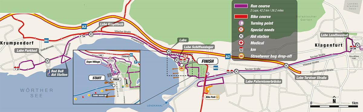 Die Laufstrecke des IRONMAN Austria