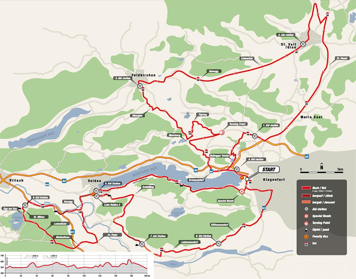 Die Radstrecke des IRONMAN Austria