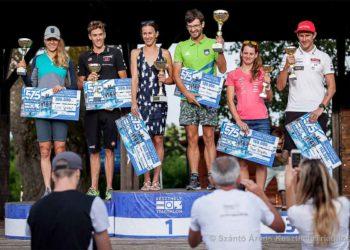 Lisi Gruber und Thomas Steger laufen beim 575 - Keszthely Triathlon auf den zweiten Rang. | Foto: 575 - Keszthely Triathlon