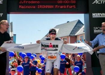 Jan Frodeno schlägt Patrick Lange bei der IRONMAN European Championship | Foto: Getty Images for IRONMAN