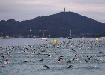 Spektakulärer Schwimmstart beim IRONMAN Austria-Kärnten | Foto: Getty Images for IRONMAN