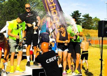 So werden Siege gefeiert - Gerasdorf Triathlon 2018