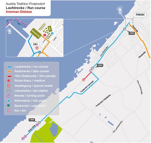 Austria Triathlon Podersdorf: Extrakilometer für Geher im See 2