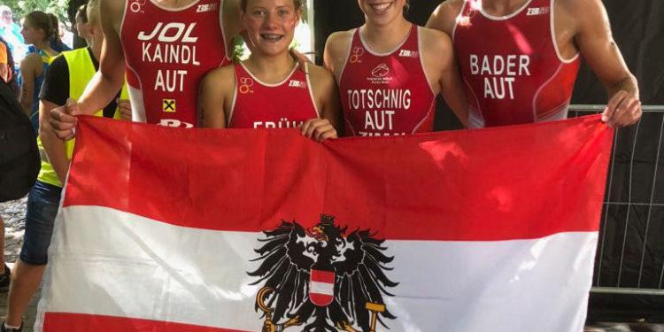 Team Austria bei der Junioren-EM in Tartu (EST)   Photo: ÖTRV