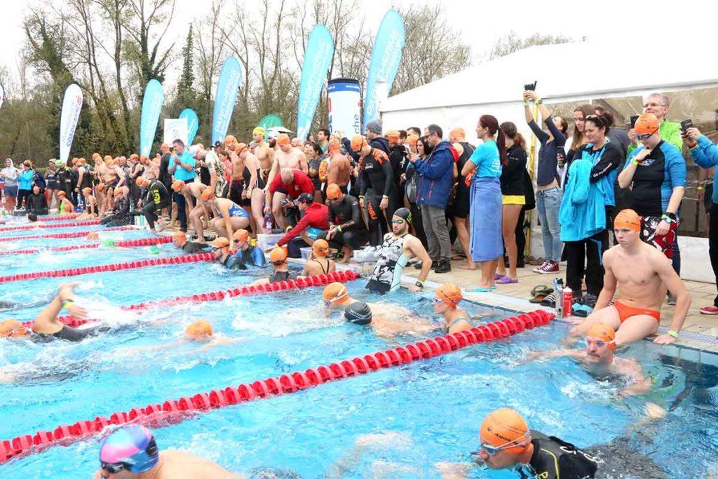 Weltrekord beim 24 Stunden Schwimmen in Bad Radkersburg 1