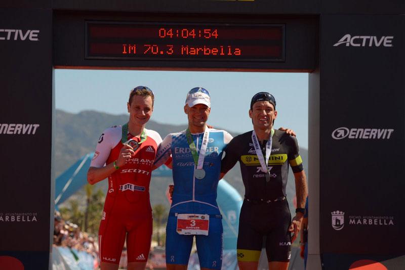 Andreas Dreitz siegt vor Alistair Brownlee und Passuello beim IRONMAN 70.3 Marbella 2019
