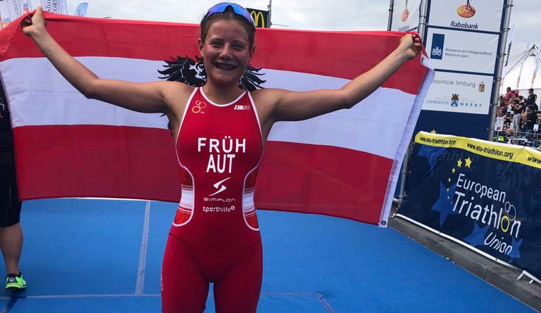 Magdalena Früh bei der Triathlon Europameisterschaft Weert 2019