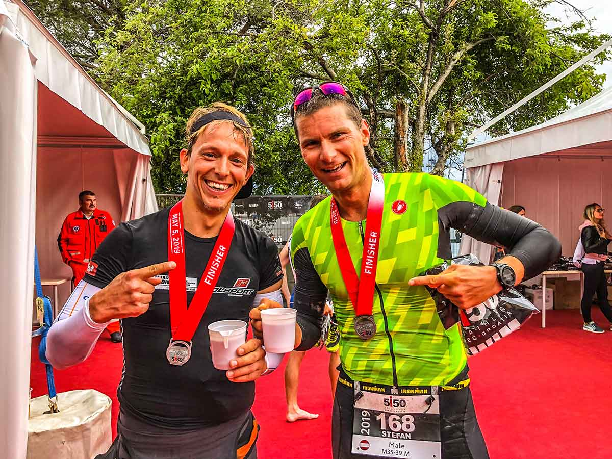 Sebastian Czerny und Stefan Leitner beim 5150 Croatia in Istrien