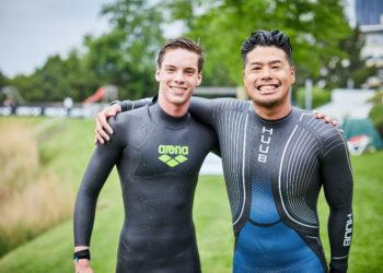 Pascal Pavlik und Yasunari Hirai beim Vienna Open Water Swim