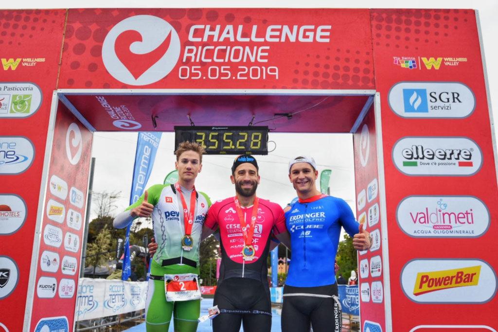 Steurer und Steger bei Challenge Riccione auf Podest 1