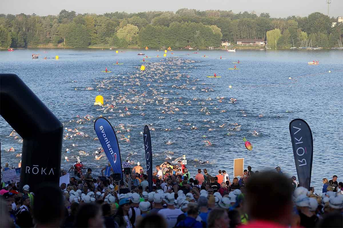 Schwimmstart beim IRONMAN Frankfurt