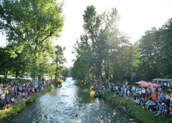 Der Lendkanal! Das Highlight der IRONMAN Austria Schwimmstrecke  | Foto: Getty Images for IRONMAN