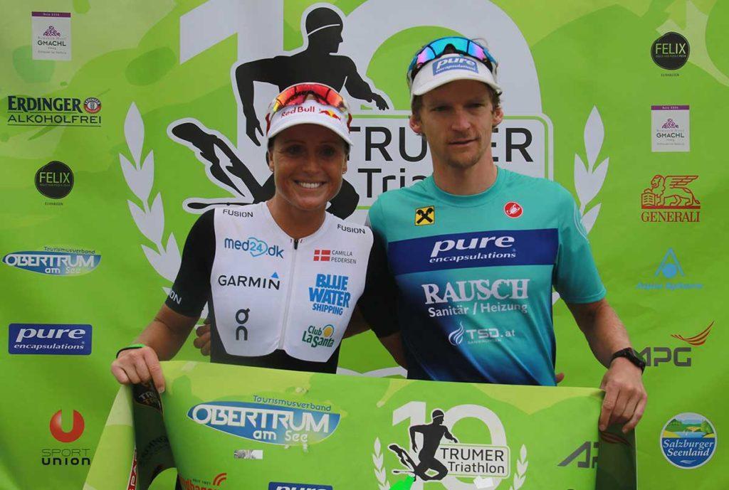 Andreas Giglmayr gewinnt den Trumer Triathlon 2019