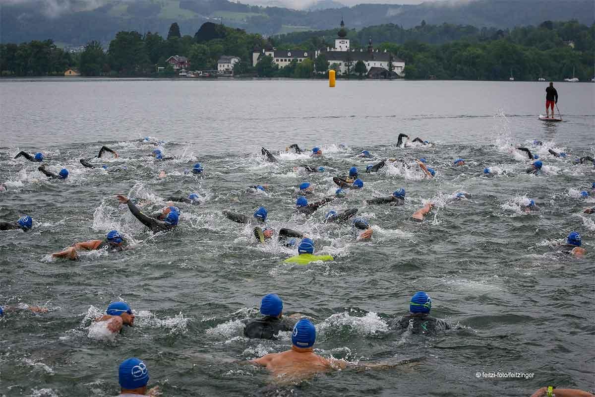 Start zum Gmunden Triathlon | Foto: Hans Feitzinger