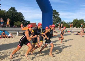 Start der Damenwelle beim ALOHA Swim & Run Traun 2019