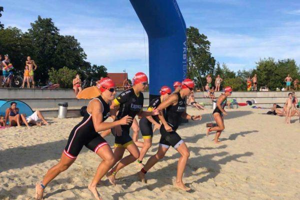 Start der Damenwelle beim ALOHA Swim & Run Traun 2019