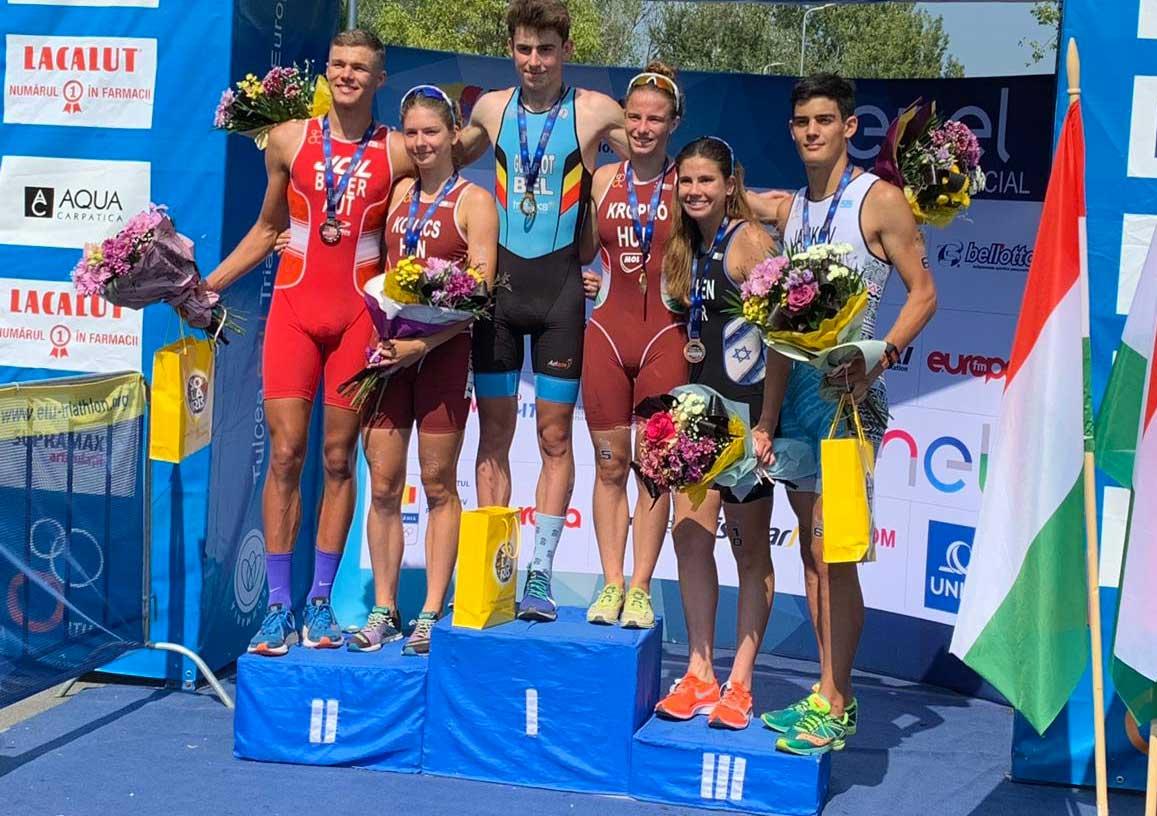 Jan Bader läuft beim Junioren EC auf Rang 2