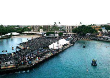 Das Pier von Kailua Kona - die Wechselzone des IRONMAN Hawaii | Foto: Getty Images for IRONMAN