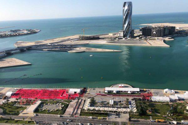 Die Wechselzone des IRONMAN 70.3 Bahrain