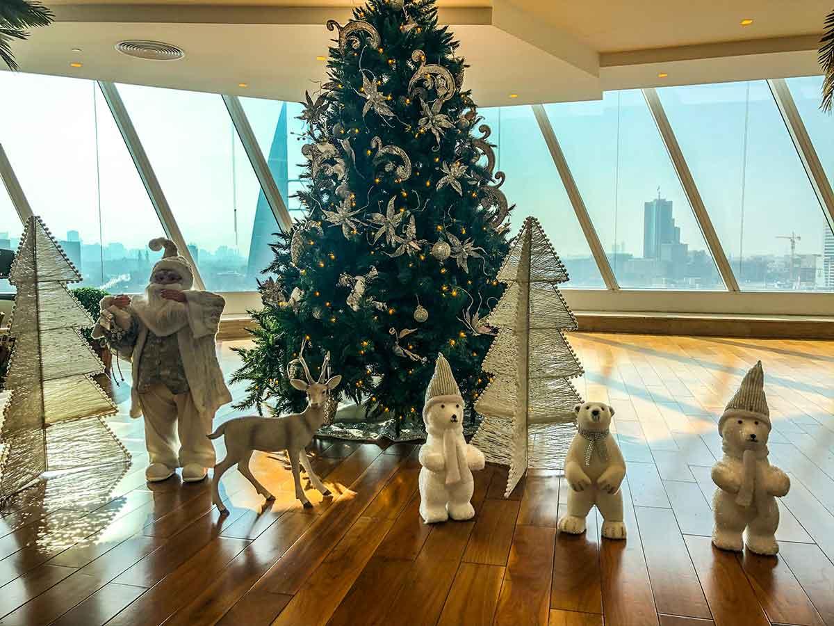 Weihnachtsdekoration in Bahrain