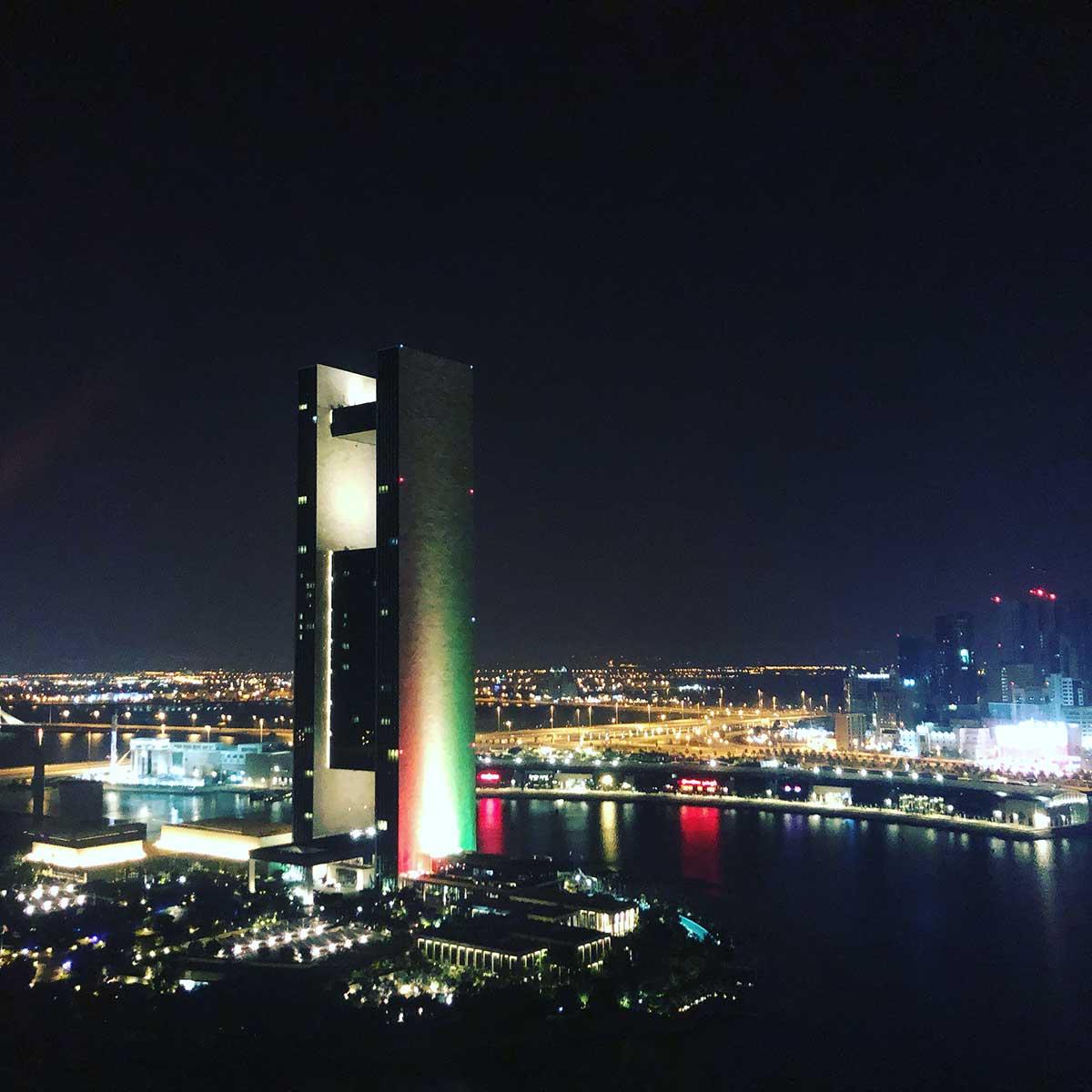 Blick vom Wyndham Grand Manama Hotel beim IRONMAN 70.3 Bahrain