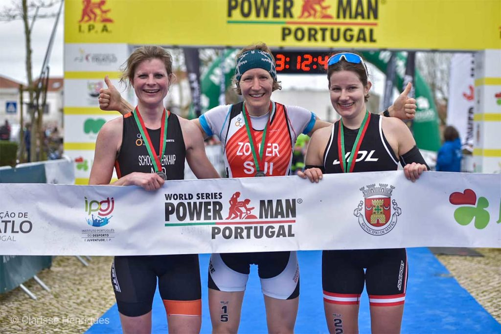 Sigrid Herndler beim Powerman Portugal 2020