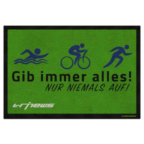 Triathlon Fussmatte