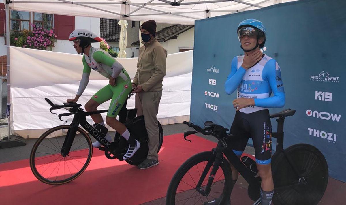 Thomas Steger und Leon Pauger beim TransVorarlberg Triathlon 2020