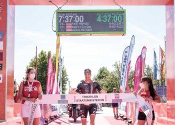 Michael Weiss gewinnt den Austria Triathlon Podersdorf