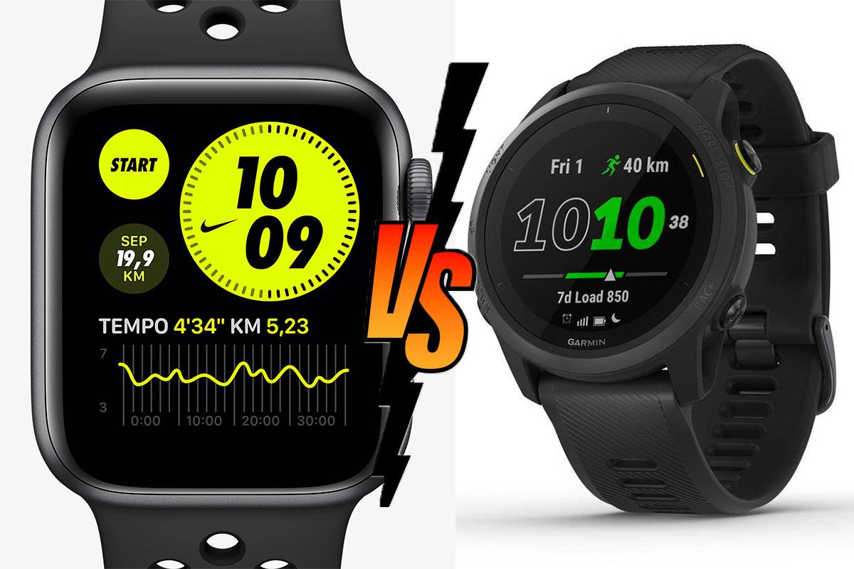 Apple Watch Serie 6 vs. Garmin Forerunner 745