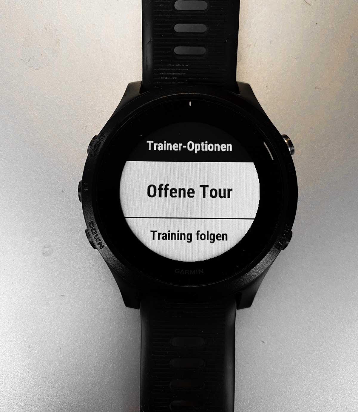 Garmin Smarttrainer Steuerung