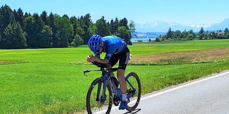 Patrick Lange beim Trumer Triathlon
