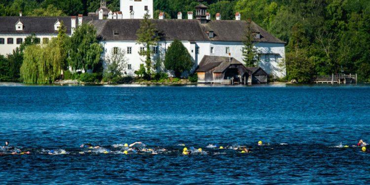 Für die wunderschöne Landschaft hatten die Athleten während dem Schwimmen kaum Zeit
